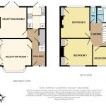 A sample, accurate residential floor plan, provided by Talbot Property Services (diagram)